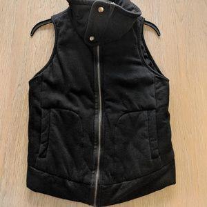 Splendid cotton vest in Black. Soft thick cotton f